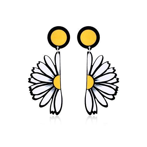 andy coolWomen Daisy Flower Pendant Dangle Earrings Acrylic Ear Stud Jewelry Gift Durable and Useful