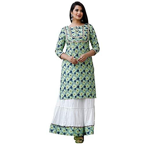 Clothing Green sharara Set