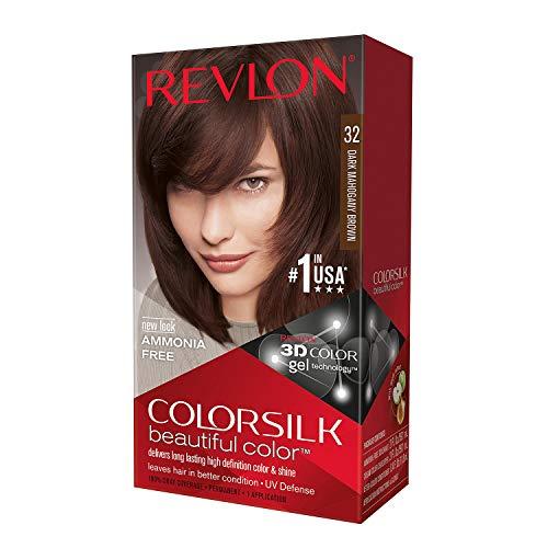 Revlon ColorSilk Hair Color, [32] Dark Mahogany Brown 1 ea