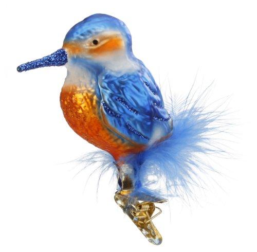 Inge-Glas Bird Clip-On Icebird 10024S014 German Blown Glass Christmas Ornament