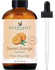 Handcraft Sweet Orange Essential Oil - 100% Pure and Natural - Premium Therapeutic Grade with Premium Glass Dropper - Huge 4 fl. Oz