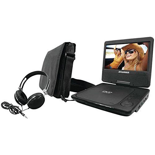 Sylvania SDVD7060-Combo-Black Portable DVD Player Bundle with Matching Oversize Headphones (Black) (Dvd Player Portable Sylvania)