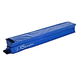 Soozier 8' Folding PU Leather Gymnastics Floor Balance Beam