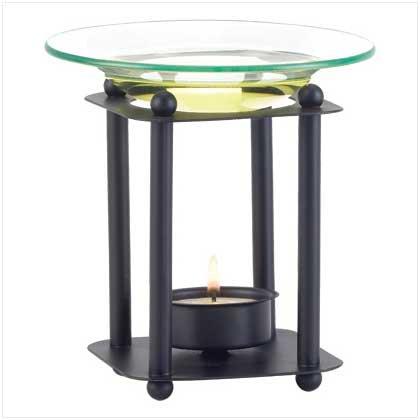 Taczotech Metal with Glass Modern-Art Oil Burner Art Glass Modern Oil Burner