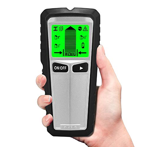 Stud Finder, 5 in 1 Multifunctional Wall Scanner Detector with Digital LCD Display & Sound Warning for Studs/Wood/Metal/Live AC Wires