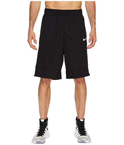 NIKE Men's Basketball Shorts Black/White Large