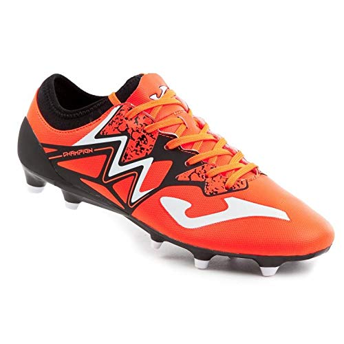 Bota de fútbol Joma Champion Max FG Orange-Black-White: Amazon.es: Zapatos y complementos