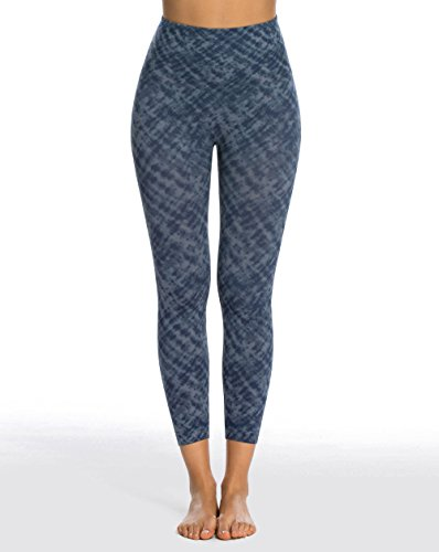 ae78870ff2f90 Galleon - SPANX Look At Me Now Medium Control Cropped Leggings, M, Indigo  Watercolor