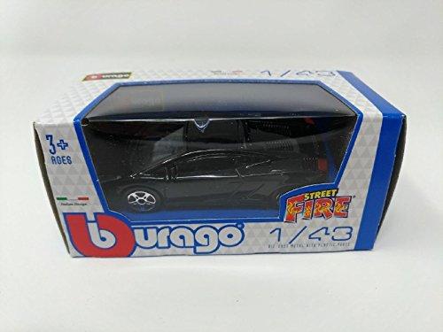 Bburago - Modellino Auto - Scala 1:43 - Street Fire - Lamborghini Gallardo - Nera