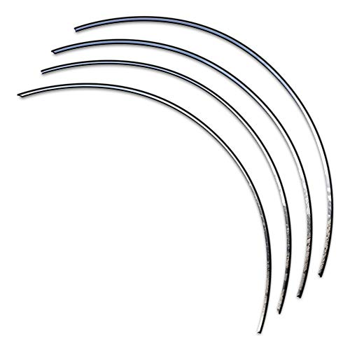 Brighter Design 4p Steel .25' Fender Trim w/3M&Gasket fit for 99-2004 Ford Mustang 2D