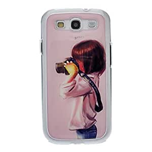 Kid Taking Photo Drawing Pattern Neutral Stiffiness Silicone Gel Back Case Cover for Samsung Galaxy S3 I9300