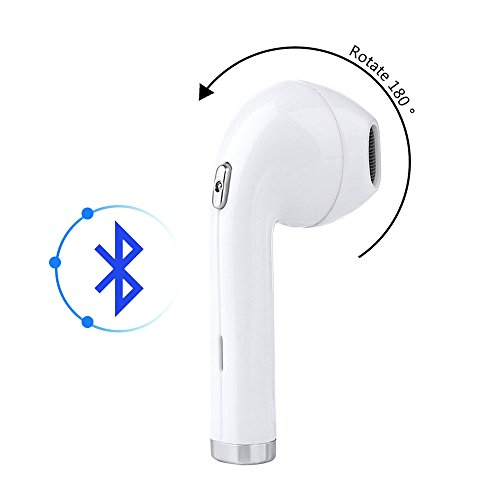 Bluetooth 4.1 Wireless Earbud, MITUTEN Updated I8 Mini In-Ear Earphone Earpiece Headphone Noise Cancelling with Mic for iPhone 8 X 7 7Plus 6 6s 6 Plus 5s, iPad/iPod/Android/Samsung S8 S8 Plus(One Pcs)