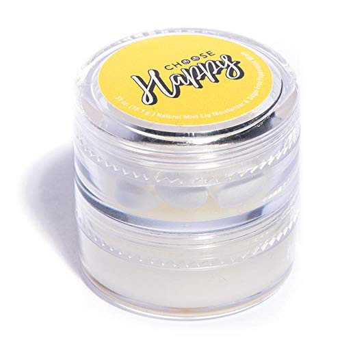 Lip Balm and Mints Combo Container, Choose Happy, Recognition Motivation - 2 Count