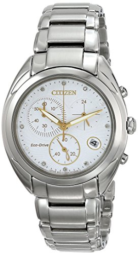 Citizen FB1390-53A Watch Celestial Ladies - White Dial Stainless Steel Case Eco Drive ()