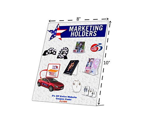 Marketing Holders 8 X 10 Slant Back Clear Acrylic Sign Holder Ad Frame Qty 3 by Marketing Holders