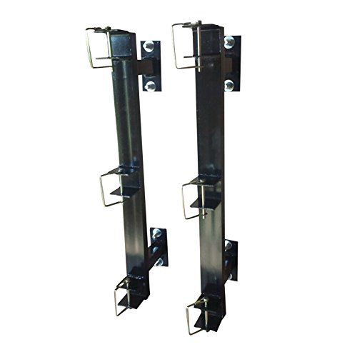 Enclosed Landscaping Trimmer Rack for Edgers, Pole Saws, and Tree Trimmers - 3 Slot (Rack Trailer Enclosed)
