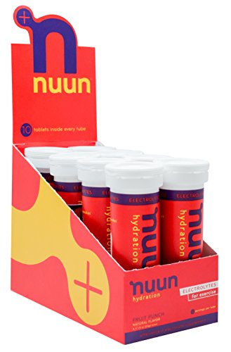 - Nuun Hydration: Electrolyte Drink Tablets, Fruit Punch, Box of 8 Tubes (80 servings), to Recover Essential Electrolytes Lost Through Sweat