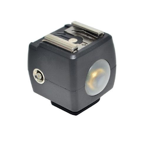 Optical Flash Slave Trigger Hot Shoe Sync Adapter With PC Socket & Sensor For Canon JSYK-3A JJC