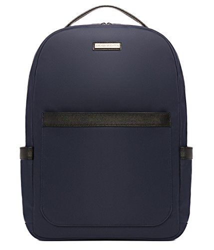 "Archer Brighton Jake Laptop Backpack, Men's 15"" Business TSA Travel Leather Canvas Multipurpose Backpack (Navy) by Archer Brighton"