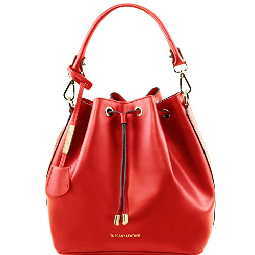 Tuscany Leather Vittoria Leather secchiello bag Red by Tuscany Leather