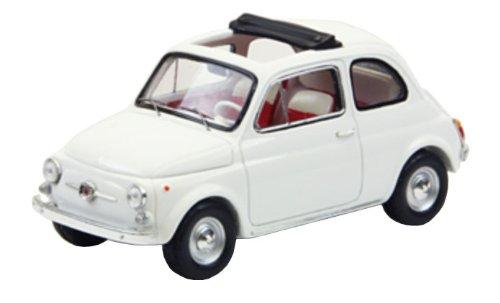 Fiat 500F Open Open Open Soft Top 1965 Weiß 1:43 Model 44461 d857ec