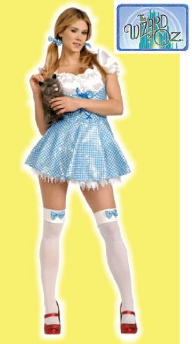 Secret Wishes  Women's Wizard of Oz Sequin Dorothy Costume, Blue/White, X-Small