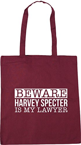 HippoWarehouse Bag Shopping Beach Beware 42cm x38cm 10 harvey my Tote specter Burgundy is litres Gym lawyer qBfSwaqx