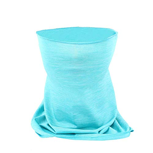 Tbest Single Layer Neck Gaiter, Sun Face Mask Dust Protection Windproof Breathable Headband for Fishing Hiking Camping Cycling Scarf Headwear(Blue)