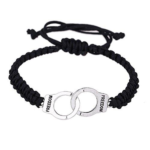 (HoBST Freedom Handcuffs Bracelet Partners in Crime Best Friends Bracelets Friendship)