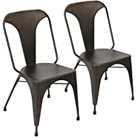 Lumisource DC-TW-AU AN2 Austin Dining Chair-Set of 2 Industrial, Antique Finish