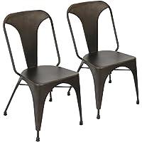 Lumisource DC-TW-AU AN2 Austin Dining Chair-Set of 2 Industrial, Antique Finish