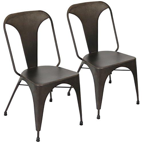 LumiSource DC-TW-AU AN2 Austin Set of 2 Industrial Dining Chair, Antique - Amazon.com - LumiSource DC-TW-AU AN2 Austin Set Of 2 Industrial