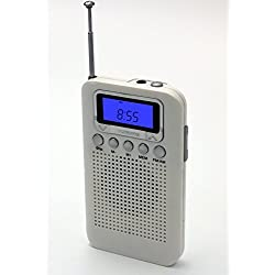 Uleader AM FM Pocket Digital Radio with Alarm Clock. (828 White)