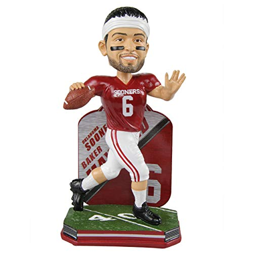 FOCO Baker Mayfield Oklahoma Sooners Name and Number Bobblehead NCAA