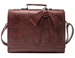 Ecosusi Fashion Vintage Messenger bag  Some women love bags because it is durable, fashion and classic. That's the case with this faux Leather Tote. This bag can hold just about anything you want to take with you on- the-go. The tote has one ...