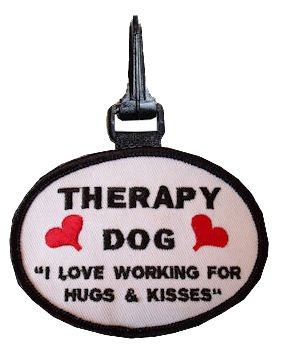 Hugs and Kisses Therapy Dog Snap On Patch Small