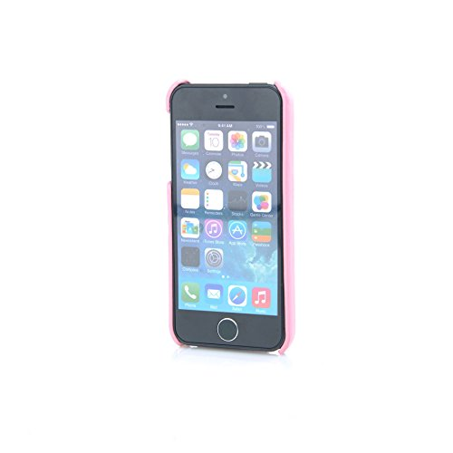MadCase® Elegante Apple iPhone SE/Apple iPhone 5S/Apple Iphone 5PREMIUM PU Leder Rückseite Fall Bezug in Retail Pack–Rosa