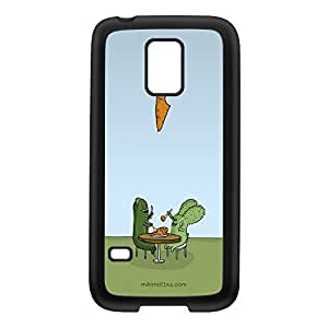 Rabtus and Cumber Carrot Black Silicon Rubber Case for Galaxy S5 Mini by Miki Mottes + FREE Crystal Clear Screen Protector