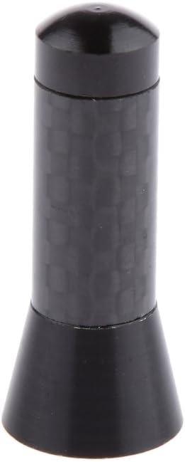 H HILABEE Antena Rechoncha De 2X 3.5cm Universal Car Carbon Fiber Short Stubby