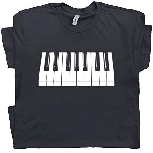 XL - Piano Keys T Shirt Keyboard Shirts Cool Rock Player Playing Pianist Keytar Jazz Blues Tee Mens Womens Graphic