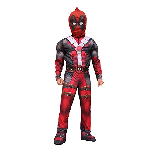 SgaSong Deadpool Costume Kids,Deluxe Child Boys Costume Cosplay Outfits 3D Style Costumes