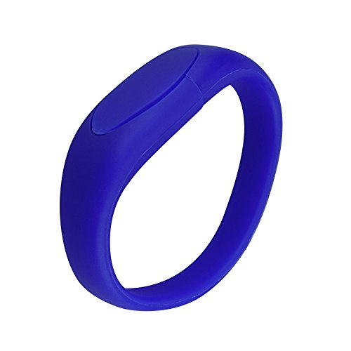 (Kootion 32 GB Wristband USB Flash Drive Bracelet Thumb Drive Memory Stick, Blue)