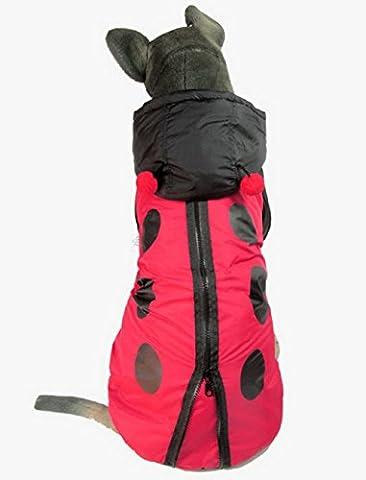 ZUNEA Large Medium Dog Costume Dog Winter Coat Ladybug Costume Hooded Halloween Costume Dots Print Zipper-fly ()