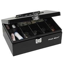 First Alert 3020F Steel Cash Box (Black)