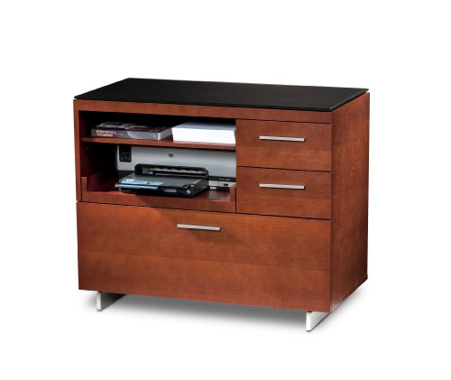 BDI Sequel Multifunction Cabinet - Natural Stained Cherry (Cabinet Bdi Cherry)