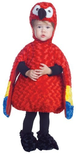 Underwraps Costumes Baby's Parrot Belly-Babies, Red/Yellow/Blue,