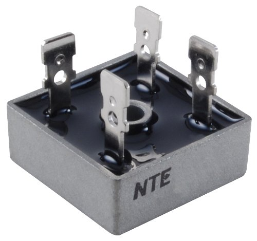 NTE Electronics NTE5324 Full Wave Single Phase Bridge Rectifier with Quick Connect Leads, 25 Amps, 400V Maximum Recurrent Peak Reverse Voltage