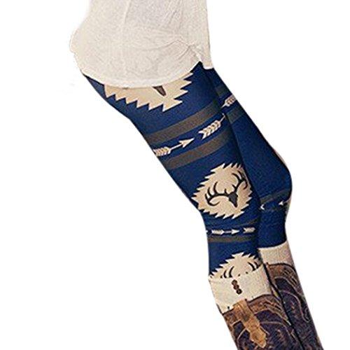 Perman Womens' Printed Stretchy Pants Skinny Leggings Pants (S, (Realtree Camo Design)