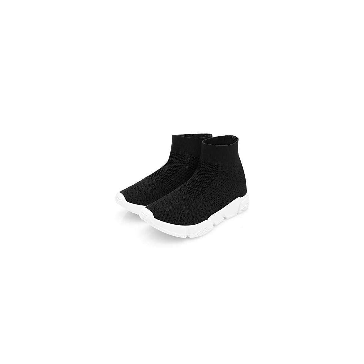 Ysfu Sneaker Sneakers Da Donna Casual Calze Stretch Bianche Alte Per Aiutare Le Donne A Maglia Scarpe Mesh Damping Fitness Traspirante Leggero Outdoor