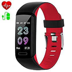 Ekrist Fitness Tracker, Activity Tracker with Heart Rate & Blood Pressure & Sleep Monitor, IP67 Waterproof Colored LED Screen Smart Watch for Men/Women/KidsIMPORTANT: ★Compatibility: Android4.4 above & IOS8.0 above, Bluetooth4.0 (Not for ...